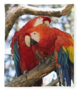 Let Me Get It - Scarlet Macaws Fleece Blanket