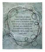 Let There Be Spaces Fleece Blanket