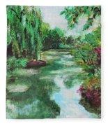 L'etang De Claude Monet, Giverny, France Fleece Blanket
