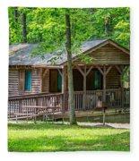 Letchworth State Park Cabin Fleece Blanket