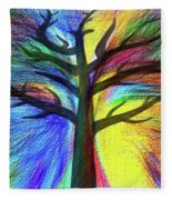 Let's Color This World By Kaye Menner Fleece Blanket