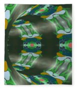Let's Get Around It Abstract  Fleece Blanket