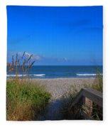 Lets Go To The Beach Fleece Blanket