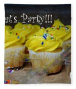 Let's Party Cupcakes Fleece Blanket