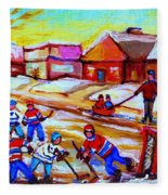 Lets Play Hockey Fleece Blanket