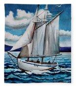 Let's Set Sail Fleece Blanket
