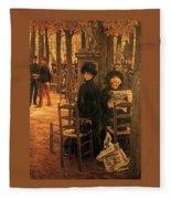 Letter L With Hats Jacques Joseph Tissot Fleece Blanket
