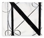 Letter N Fleece Blanket