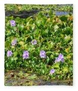Lettuce Lake Flowers Fleece Blanket