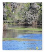 Lettuce Lake With Bridge Fleece Blanket