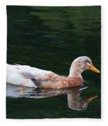 Leucistic Mallard Fleece Blanket
