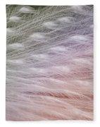 Leucistic Peachick Fleece Blanket