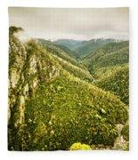 Leven Canyon Reserve Tasmania Fleece Blanket
