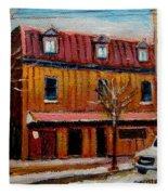 Levine Brothers Plumbers Montreal Fleece Blanket