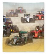 Lewis Hamilton Leads The Pack Fleece Blanket