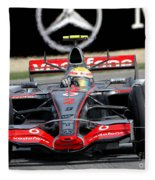 Lewis Hamilton, Mclaren- Mercedes Mp4-22 Fleece Blanket
