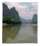 Li River At Xingping Fleece Blanket