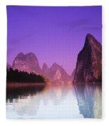 Li River Near Yangshuo Fleece Blanket