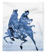 Li Shang-blue Fleece Blanket
