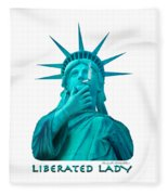 Liberated Lady 3 Fleece Blanket