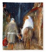 Liberty - Arriving In Bethlehem Fleece Blanket