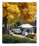 Liberty Farmers Market Fleece Blanket