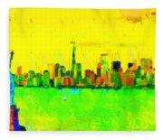 Liberty In New York - Pa Fleece Blanket