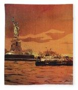 Liberty Island- New York Fleece Blanket
