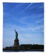 Liberty Island Statue Of Liberty Fleece Blanket