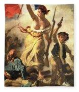 Liberty Leading The People Fleece Blanket