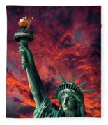 Liberty On Fire Fleece Blanket