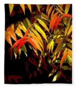 Library Leaves Fleece Blanket