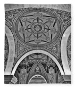 Library Of Congress Arches And Murals Fleece Blanket