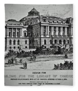 Library Of Congress Proposal 2 Fleece Blanket