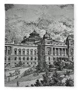 Library Of Congress Proposal 5 Fleece Blanket