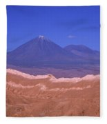 Licancabur Volcano Seen From The Atacama Desert Chile Fleece Blanket