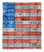 License Plate Flag Of The United States Fleece Blanket