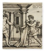 Lichas Bringing The Garment Of Nessus To Hercules Fleece Blanket