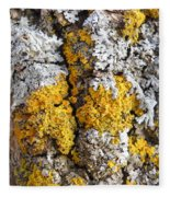 Lichens On Tree Bark Fleece Blanket