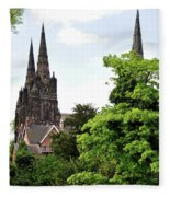 Lichfield Cathedral From Minster Pool Fleece Blanket
