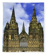 Lichfield Cathedral - The West Front Fleece Blanket