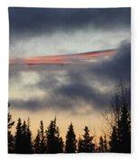 Licorice In The Sky Fleece Blanket