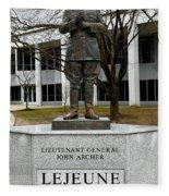 Lieutenant General John Archer Lejeune Fleece Blanket