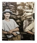 Life In Australia 1901 To 1914 Fleece Blanket