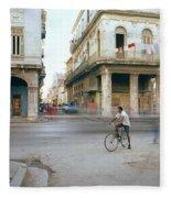 Life In Cuba Fleece Blanket