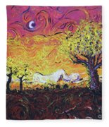 Life In Decay Fleece Blanket