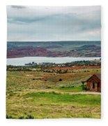 Life In Wyoming Fleece Blanket