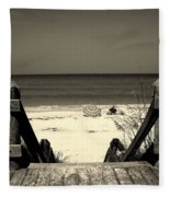 Life Is A Beach Fleece Blanket