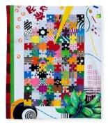 Life Is A Puzzle Fleece Blanket