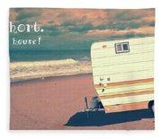 Life Is Short Buy The Beach House Mug Fleece Blanket